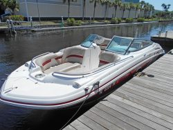 Hurricane 2200 deck boat for rent in Cape Coral</th> <th > Fort Myers and Port Charlotte Florida